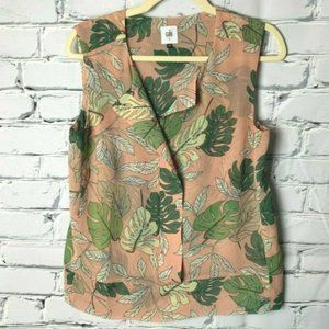 Cabi 5351 Size Small Tropical Blouse Sleeveless